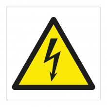 High Voltage Symbol Sticker