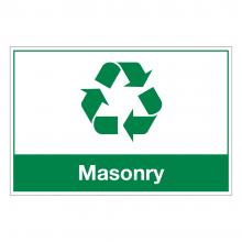 Masonry Waste Sign