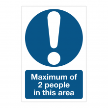 Maximum of Two People In This Area Sign