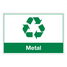 Metal Waste Sign