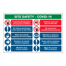 Site Safety Covid-19 10 Point Multi-Hazard Sign