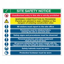 Site Safety 10 Point Multi-Hazard Sign