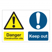 Danger Construction Site / Keep Out Multi-Message Sign