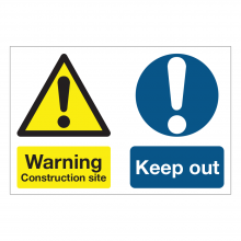 Warning Construction Site / Keep Out Multi-Message Sign