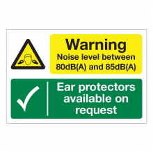 Warning Noise Level 80-85dB / Ear Protectors Available Multi-Message Sign