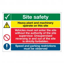Site Safety 4 Point Multi-Hazard Sign