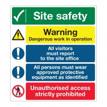 Site Safety 5 Point Multi-Hazard Sign