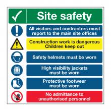 Site Safety 7 Point Multi-Hazard Sign