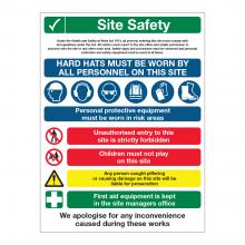 Site Safety 8 Point Multi-Hazard Sign