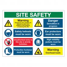 Site Safety 9 Point Multi-Hazard Sign