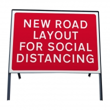 New Road Layout For Social Distancing Metal Sign Plate (COVID-19)