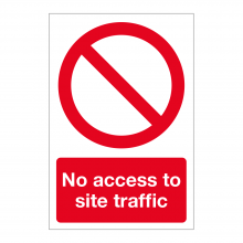 No Access To Site Traffic Sign