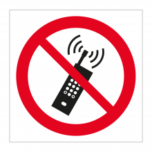 No Mobile Phones Symbol Sticker