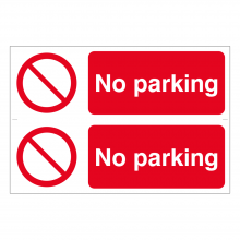 No Parking Sign (2up)