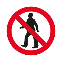 No Pedestrian Access Symbol Sticker