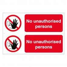 No Unauthorised Persons Beyond Sign (2up)