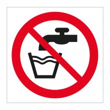 No Drinking Water Symbol Sticker