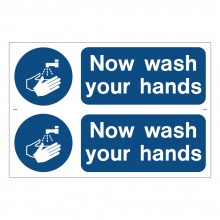 Now Wash Your Hands Sign (2up)