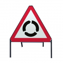 Roundabout Ahead Metal Sign Face (P510)