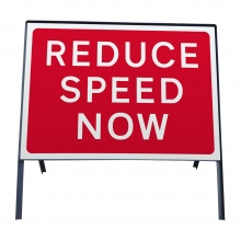 Reduce Speed Now Metal Sign Face (P511)