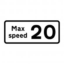Maximum Speed Advised Supplementary Plate (P513.2)