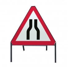 Road Narrows Both Sides Metal Sign Face (P516)