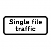 Single File Traffic Sign Supplementary (P518)