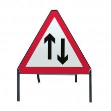 Two-Way Traffic Metal Sign Face (P521)