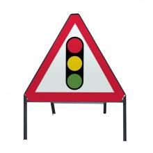 Traffic Signals Ahead Metal Sign Face (P543)