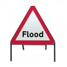 Flood Warning Metal Sign Face (P554)