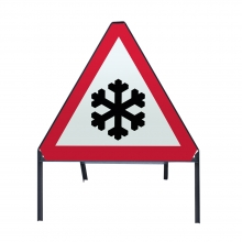 Risk Of Ice Ahead Metal Sign Face (P554.2)
