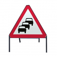 Traffic Queues Likely Metal Sign Face (P584)