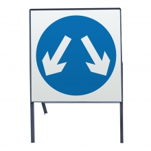 Pass Either Side Metal Sign Face (P611)