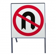 No U-Turns Metal Sign Face (P614)