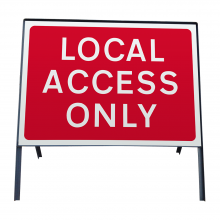 Local Access Only Metal Sign Face (P7010.1)