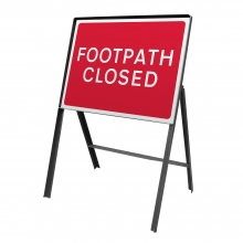 Footpath Closed Metal Sign Face (P7018)