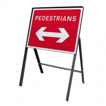 Pedestrians Reversible Arrow Metal Sign Face (P7018)
