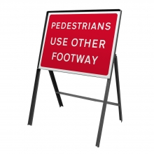 Pedestrians Use Other Footway Metal Sign Face (P7018)