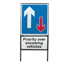 Priority Over Oncoming Traffic Metal Sign Face (P811)
