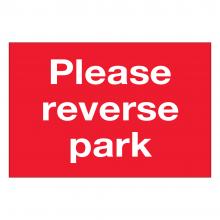 Please Reverse Park Sign