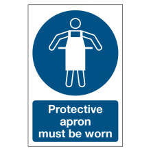 Protective Apron Must Be Worn Sign