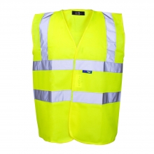 Hi-Vis Yellow Basic Waistcoat 3XL