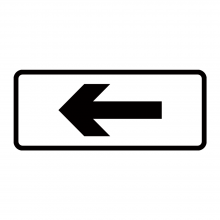Directional Arrow Supplementary Plate