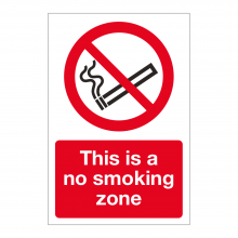 This Is A No Smoking Zone Sign