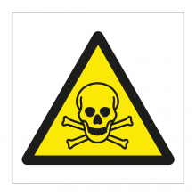 Toxic Hazard Symbol Sticker