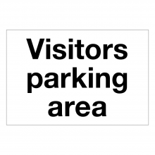 Visitors Parking Area Only
