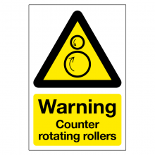 Warning Counter Rotating Rollers Sign