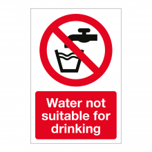 Water Not Suitable For Drinking Sign