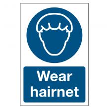 Wear Hairnet Sign