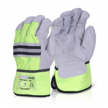 Canadian High Quality High Visibility Yellow/Grey Gloves